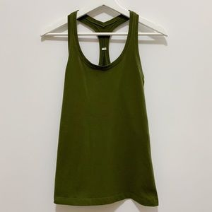Lululemon Olive Green Fitted Tank